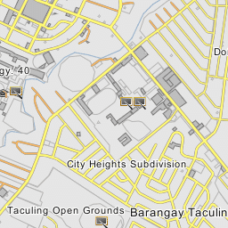 Rosario Heights Subdivision Bacolod City Negros Occidental - Bacolod map