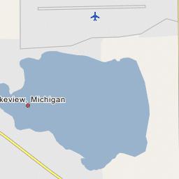 Lakeview Michigan Map.Tamarack Lake Lakeview Michigan