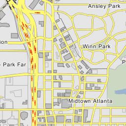 Map Of Georgia Hwy 75.The Brookwood Split Interstate 75 Interchange 250 Atlanta Georgia